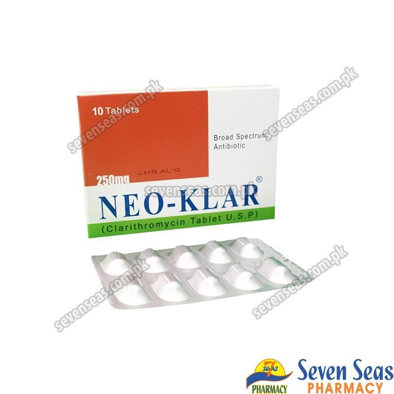 NEO-KLAR TAB 250MG (1X10)