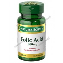 NB FOLIC ACID TAB 800MCG (1X250)
