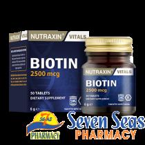 NUTRAXIN BIOTIN TAB 2500MCG (1X50)