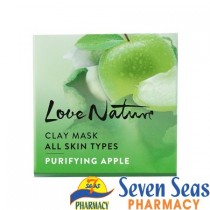 LOVE NATURE Clay Mask All Skin Types Purifying Apple