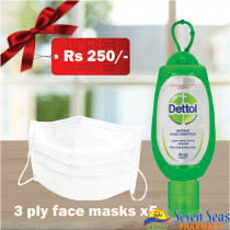 Hygiene Pack FACE MASKS + DETTOL SANITIZER