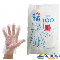 POLYTHENE GLOVES GLV  (1X100)